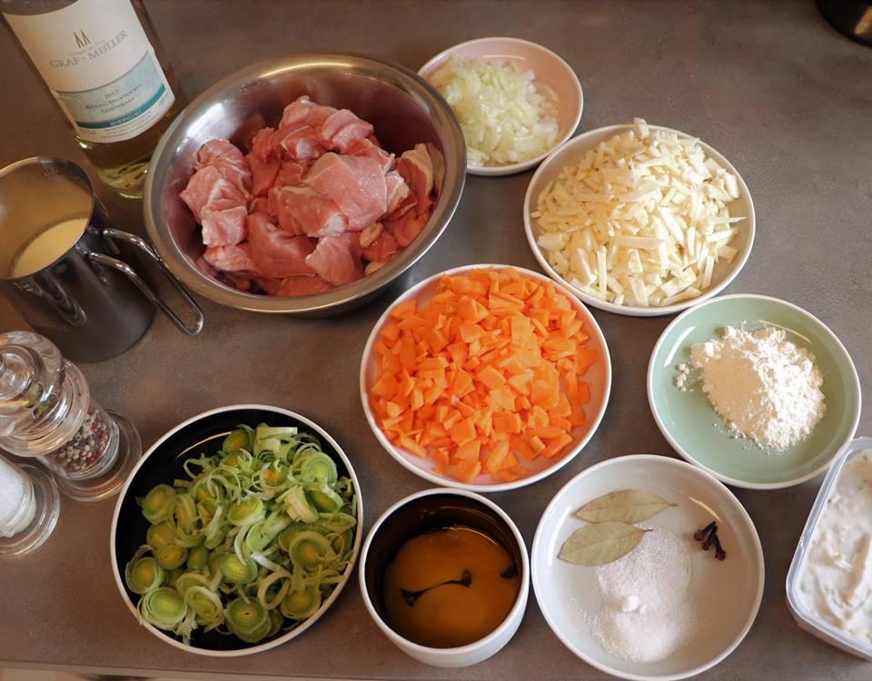 Eingemachtes Kalbfleisch Zutaten