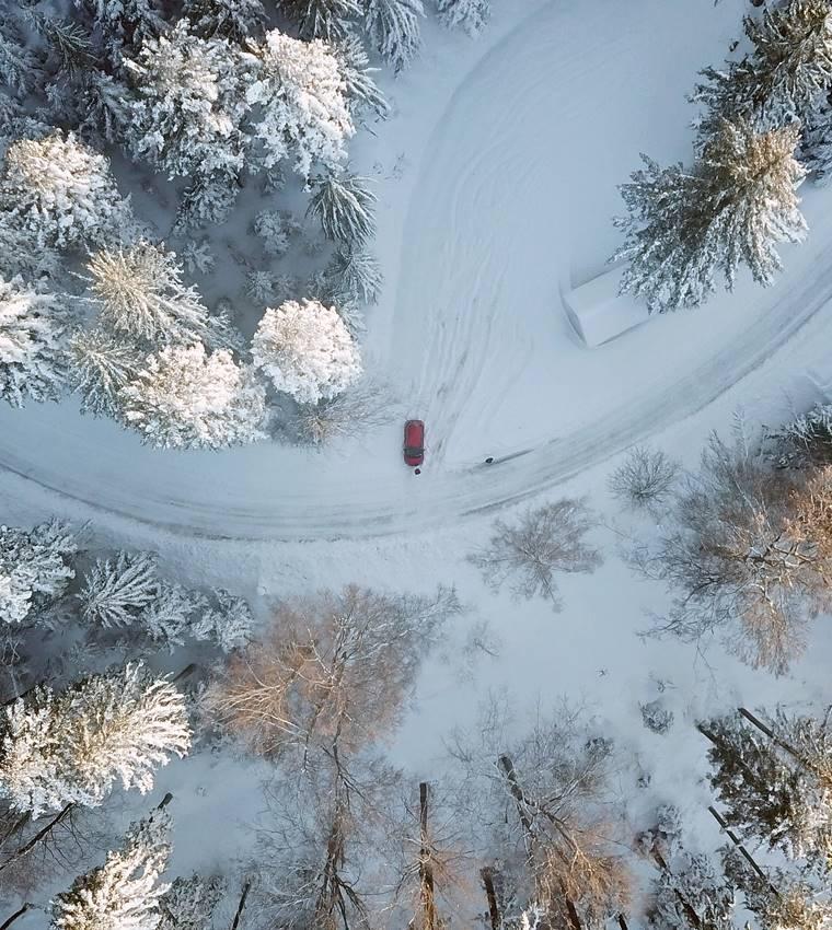 Winterlandschaft auf dem Brandenkopf mit Drohne fotografiert